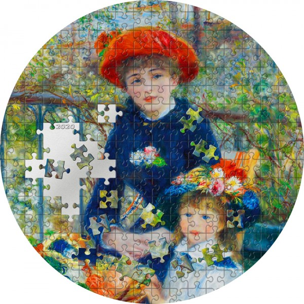 3 Ounce Silver Proof Two Sisters Renoir Micropuzzle Treasures Passion 20$ Palau 2020