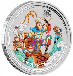1 Unze Silber Coloured Monkey King Australien 2016